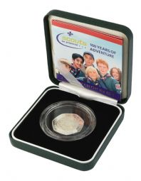 2007 Silver Proof Piedfort 50p - Scout Movement for sale
